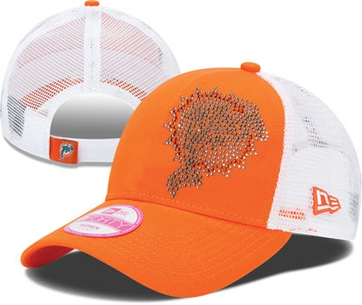 Miami Dolphins Women's 9FORTY Adjustable Hat. Bling bling hat!
