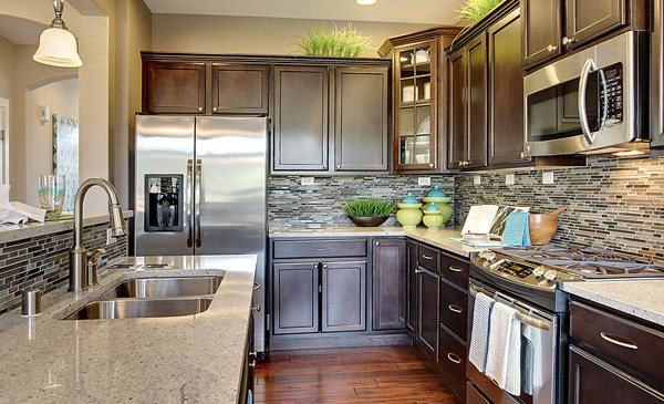 Lennar seattle kitchen! The backsplash really makes this ...