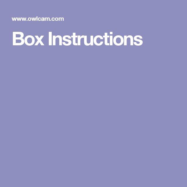 Box Instructions