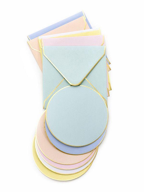 Pastel circle notecards