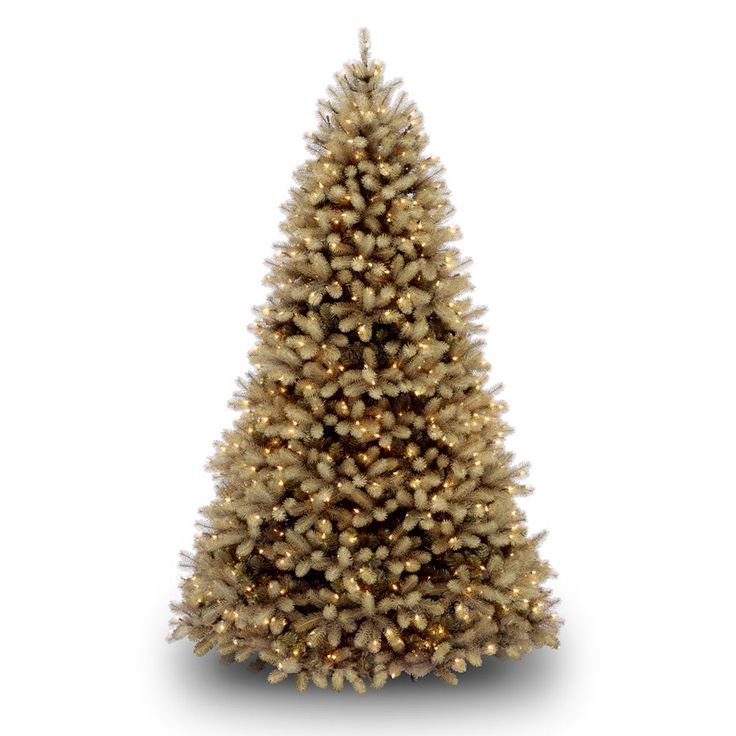 Douglas Fir 7.5' Green Downswept Artificial Christmas Tree with 750 Dual-Color LED Lights with Stand