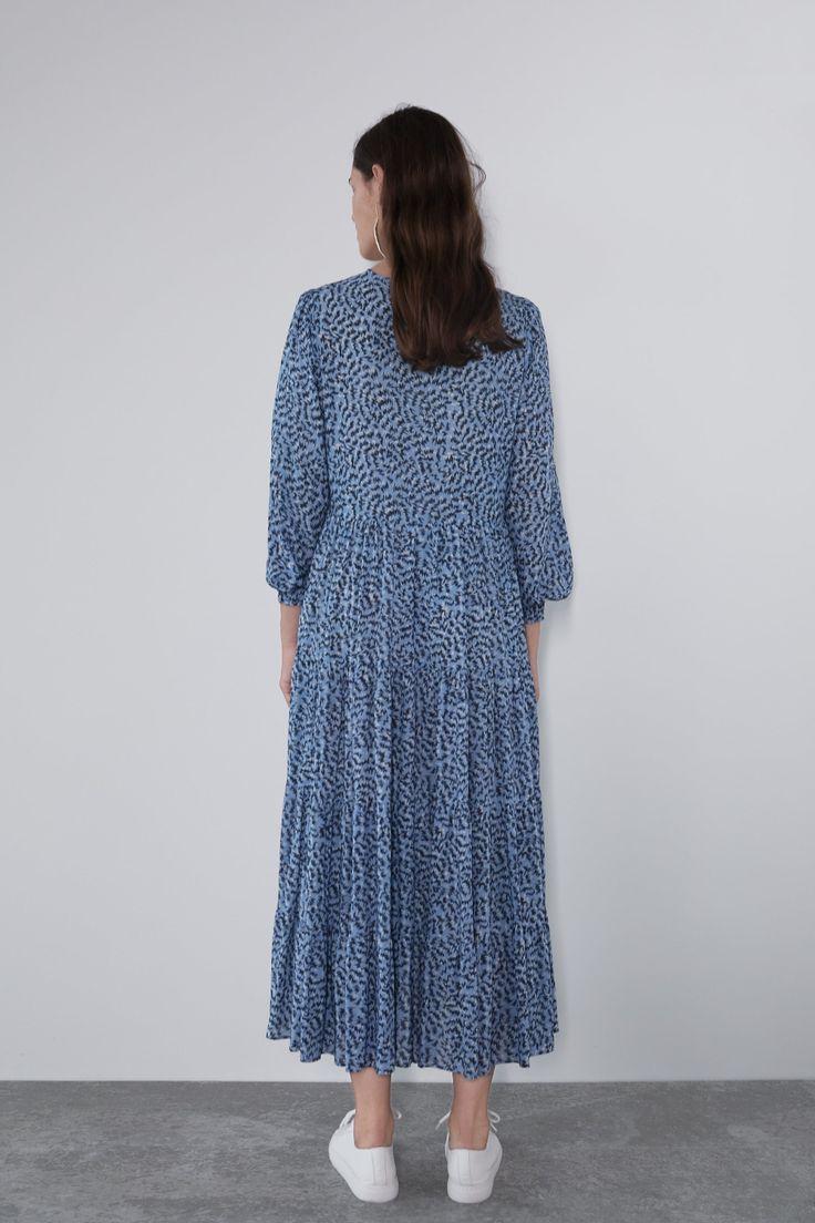 long printed dress view all dresses woman zara