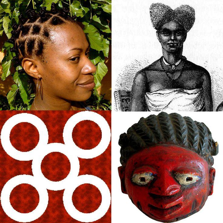 Mpuannum - Um estilo de penteado formado por cinco tufos tradicionalmente usado pelos comissários reais. Símbolo de lealdade, destreza e oficio espiritual.  Esse símbolo representa a devoção e a fidelidade demonstrada ao realizar uma tarefa solicitada. Além disso, Mpuannum se traduz como o empreendimento de uma tarefa para a obtenção um objetivo desejado. Esses cinco tufos que sinalizam as quatro direções formam o arranjo de cabelo conhecido por penteado da alegria.