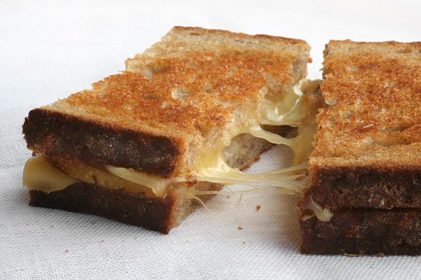 Asian Pear and Gouda Grilled Cheese-- this is totally gouda, and one of the only recipes I've made with Asian pears that is delish.
