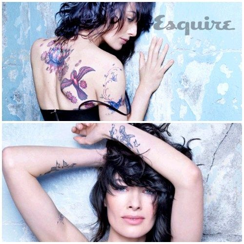 This is one of the stars Lena Headay playing the Mother of evil Teen-King Joffrey in Game of Thrones. Shes is gorgeous & I never knew she had so many tattoos, did you?