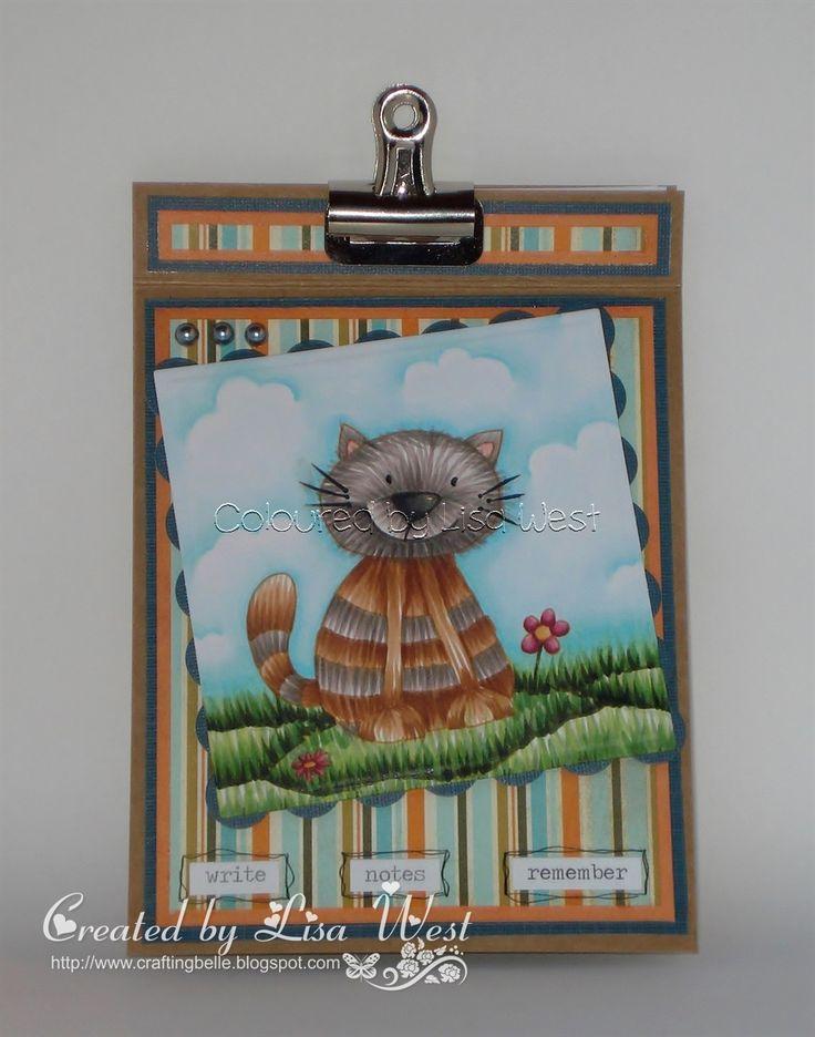 Using Calvin Cat digi stamp http://www.littleclaire.co.uk/product/digi-calvin-cat.html