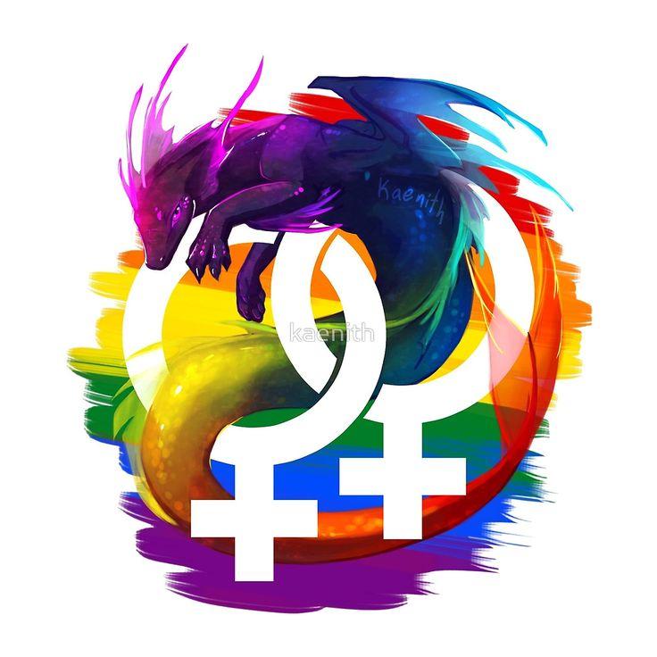 Discreet lesbian pride symbols