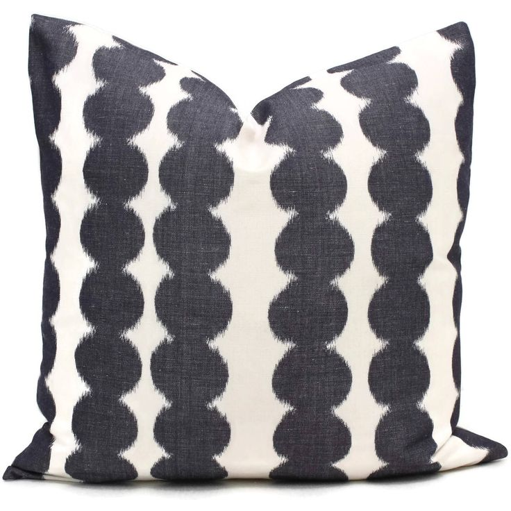 Schumacher Faded Black Full Circle Decorative Pillow Cover, Made to order, Black and white throw, toss pillow cover by PopOColor on Etsy https://www.etsy.com/listing/514282872/schumacher-faded-black-full-circle
