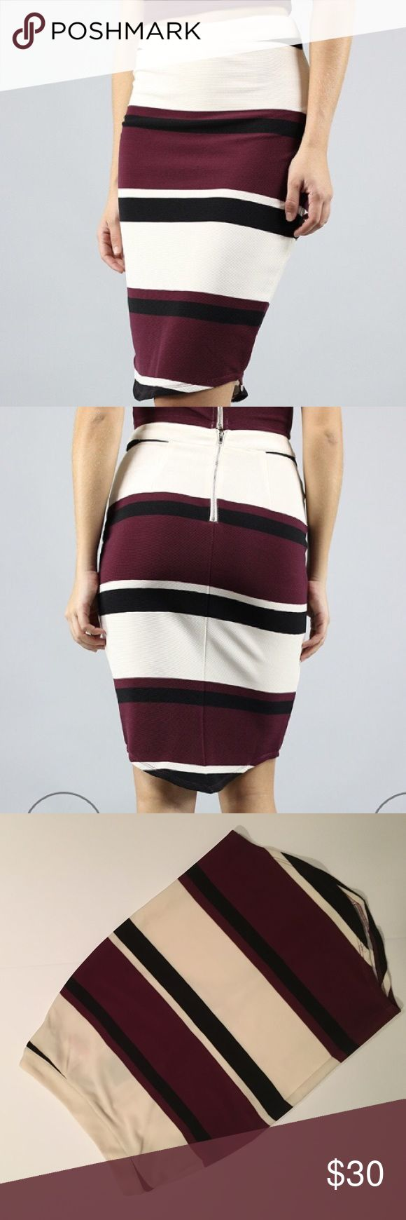 J.O.A. Just one answer striped body con skirt NWT J.O.A. Skirts