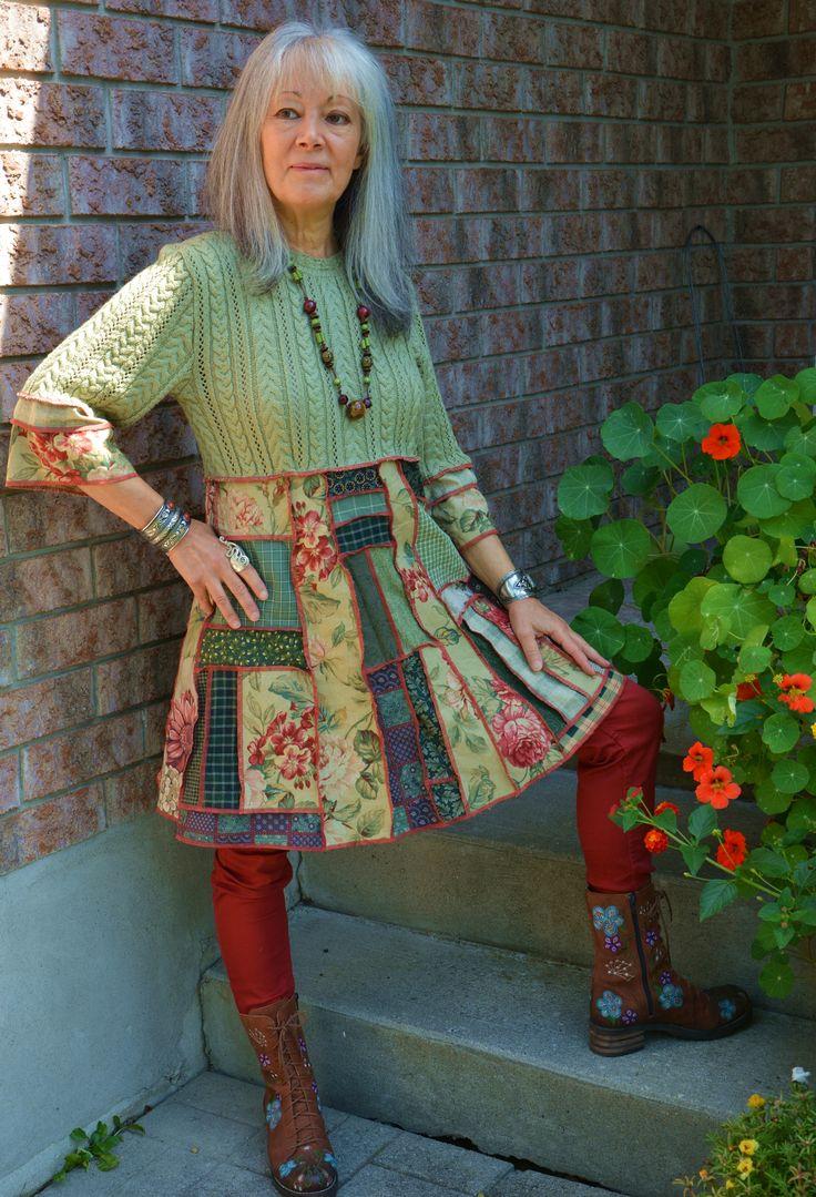 Lagenlook Dress in my Etsy Shop
