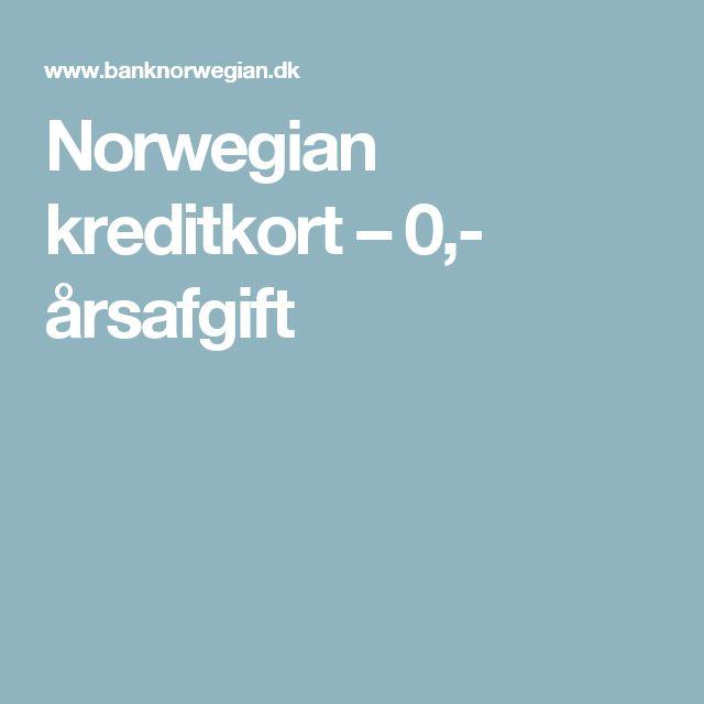 Norwegian kreditkort – 0,- årsafgift