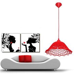 Simple créative Chambre à coucher Restaurant en couleur gel de la silice petite lustre