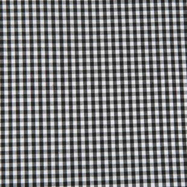 Poly Cotton Gingham- 1/8`Black 112cm