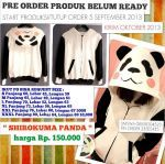 Jaket Hoodie Panda Shirokuma