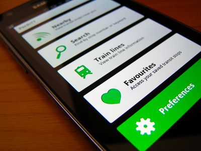 Simple green Android app interface redesign