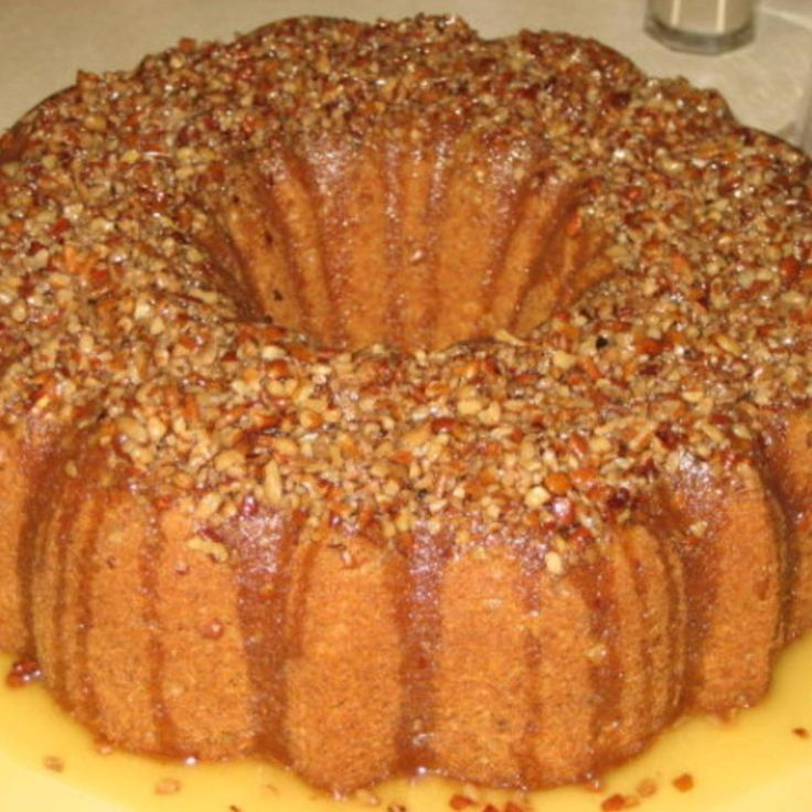 Crown Royal Cake - Although most of the alcohol cooks out of the cake, it still has a distinct whiskey flavor.