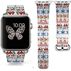 iWatch/iWatch 2 Bands 42mm,CHRISTMAS GIFT ,Apple Watch/Apple Watch 2 Band Genuine Prime Elegant Leather Replacement With Silver Metal Adapter - christmas 1