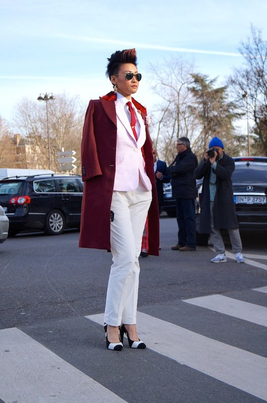 Outside The Shows At Fashion Week Street Styles Street And Androgynous