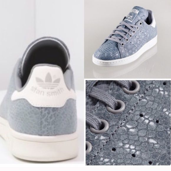 STAN SMITH Adidas Onix Sneaker BNIB. Onix snake embossed. Grey. Size 9 Women. Adidas Shoes Sneakers