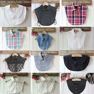 Peter Pan Unisex Women Detachable Lapel Shirt Fake False Collar Choker Necklace