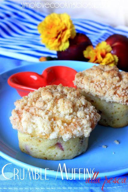 Crumble-Muffins alla pesca