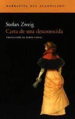 CARTA DE UNA DESCONOCIDA  de Stefan Zweig