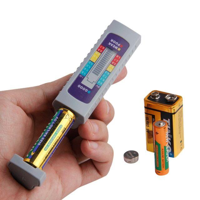 Battery Tester Digital Universal Battery Capacity Tester For Aa Aaa 1 5v 9v Lithium Battery Power Supply Lithium Battery Batteries Testers Battery Maintenance