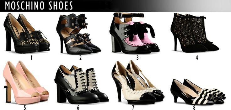 Elegant, original, extravagant and beautiful - new shoes from Moschino in our fitting room! Which one do you like best?  /Eleganckie, oryginalne, ekstrawaganckie i prześliczne - nowe buty w przymierzani od Moschino! Które Wam się najbardziej podobają?   http://glamstorm.com/en/fittingroom/clothes#cat