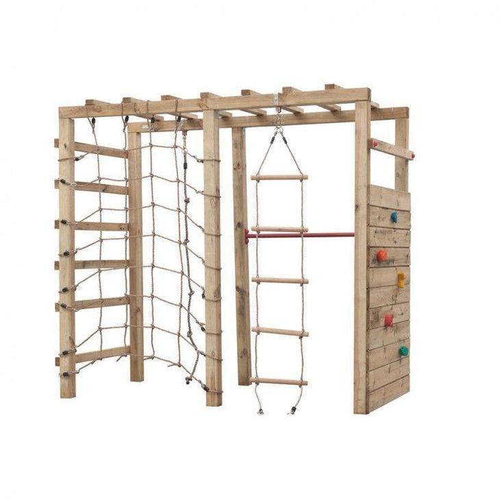 Kids Playhouse Set Wooden Playground Children Rope Ladder Climbing Hanging Fun #KidsPlayhouseSet