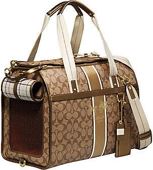 Coach Heritage Stripe Dog Carrier -