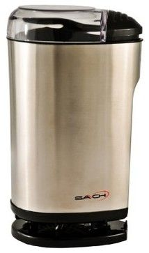 Saachi SA-1440 Electric Spice/Nuts/Coffee Grinder, Stainless Steel contemporary small kitchen appliances