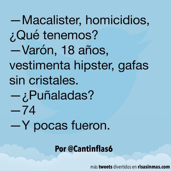 Macalister, homicidios. #humor #risa #graciosas #chistosas #divertidas