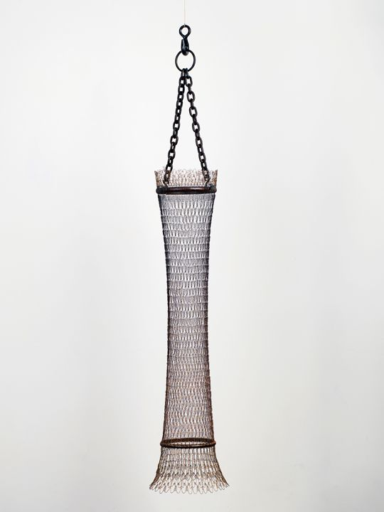 Double Chain, Sleeve, 2011 Crocheted copper, found and fabricated metal, patina and resin