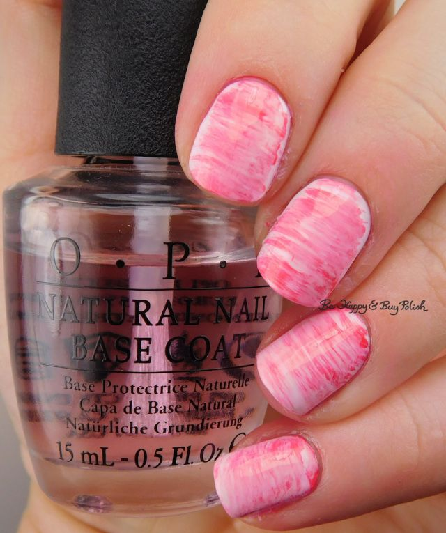 fan brush gradient nail art with OPI Mod About You, Suzi Shops & Island Hops, Suzi's Hungary Again, Charged Up Cherry | Be Happy And Buy Polish https://behappyandbuypolish.com/2017/02/17/fan-brush-gradient-with-opi-polishes/