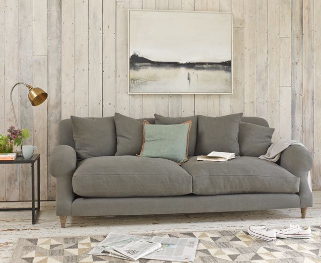 Crumpet sofa in Peacock brushed cotton