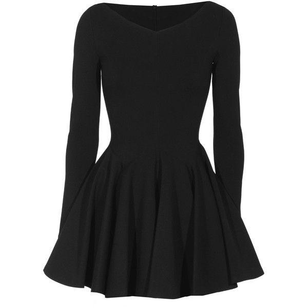 Plein Sud Robe Courte À Quille Noir Flared cut stretch dress found on Polyvore