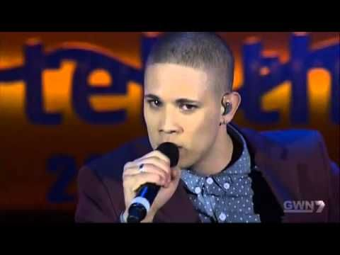Nathaniel on Telethon 2013 Singing - You