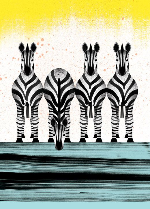 """Zebra"" illustration, 'The Curious Explorer's Illustrated Pocket Companion to Exotic Animals, A-Z', by Marc Martin."