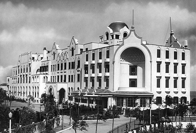 Albergo delle rose. The hotel of Roses, now the casino of Rhodes island, Greece.