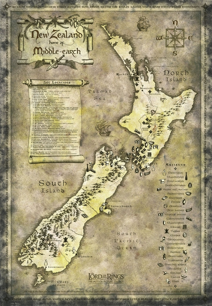 Middle Earth also known as New Zealand