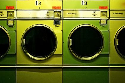 : Green Collection, Mean Green,  Wash Machine,  Automat Washer, Neon Fashion, Apartment Therapy, Washer And Dryer, Laundry Rooms, Green Wash