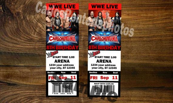 Hey, I found this really awesome Etsy listing at https://www.etsy.com/listing/480009567/wwe-wrestlemania-ticket-personalized