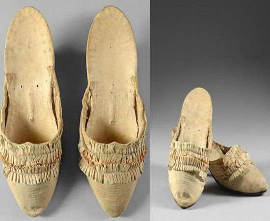 A slice of French history was auctioned off for $57,000 which showcased an experience in to popular French culture that defined the extravagance of the famed yet despised Marie Antoinette.  A pair of silk mules allegedly belonging to Marie Antoinette was