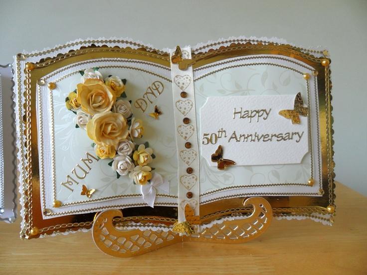 Golden wedding anniversary card.