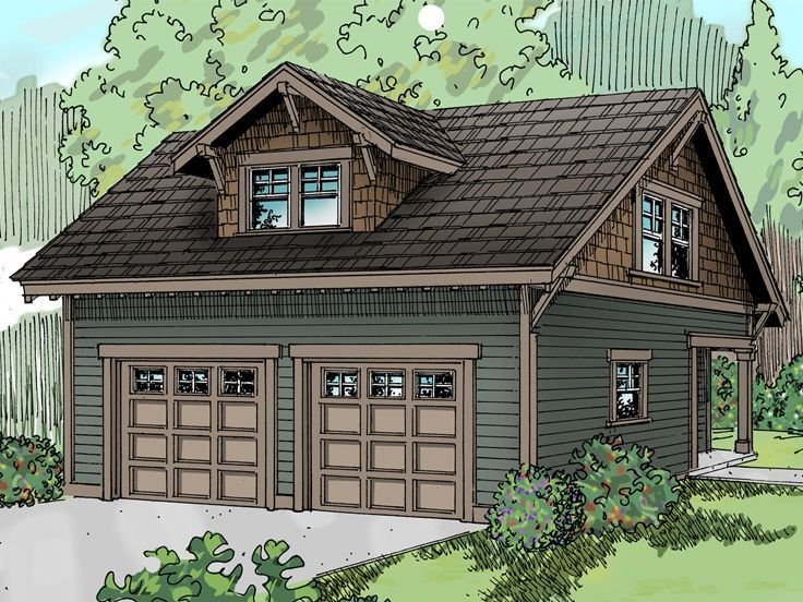 Love the brown and green combo eliminate dormer storage for Apartment garage storage