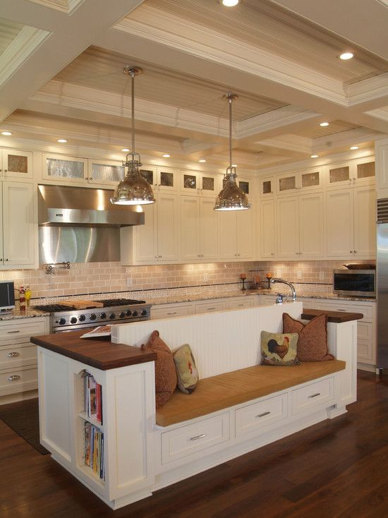 Kitchen Island With Booth Seating 433 best kitchen ~ islands images on pinterest | kitchen, dream