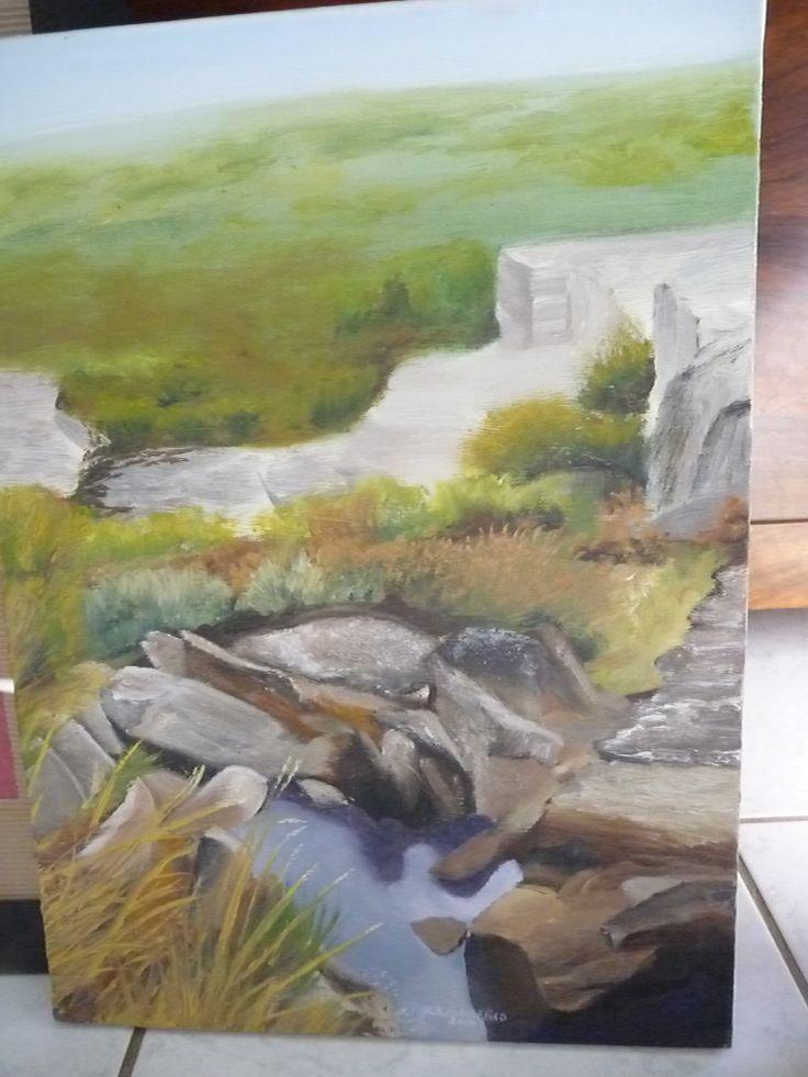 paysage réalisé en peinture à l'huile