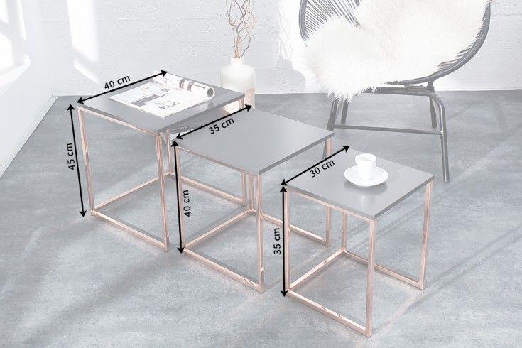 Design Beistelltisch Matt Schwarz Edelstahl Riess Ambiente De Design Beistelltisch Tisch Stahltischbeine