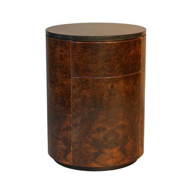 Burr Walnut Bedside Table by Anton Gerner - bespoke contemporary furniture melbourne