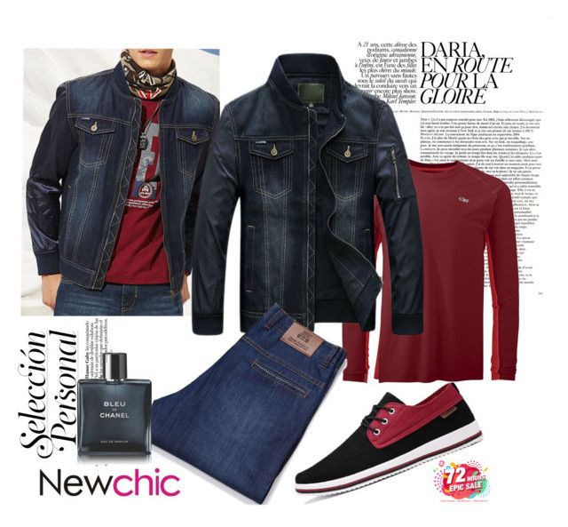 """Newchic- Men Fashion"" by autumn-soul ❤ liked on Polyvore featuring Chanel, men's fashion and menswear"